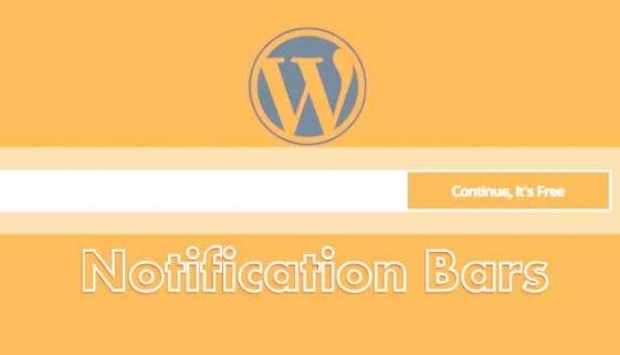 WordPress Notification Bar Plugin
