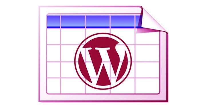 WordPress Table Plugins
