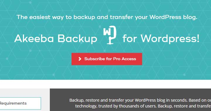 Akeeba Backup for WordPress