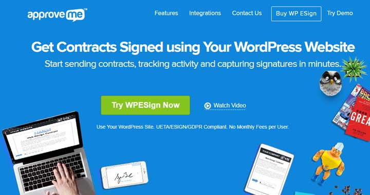 WP E-Signature from ApproveMe