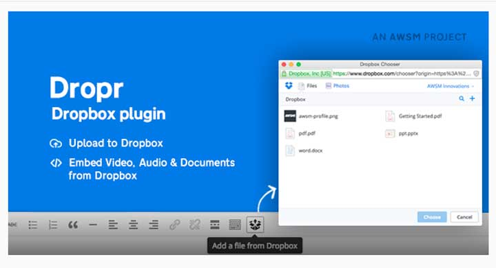 Dropr - Dropbox Plugin for WordPress
