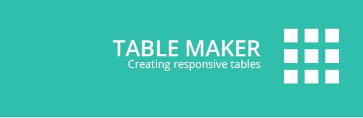 Table Maker WordPress Table Plugin