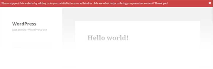 Ad Blocking Advisor