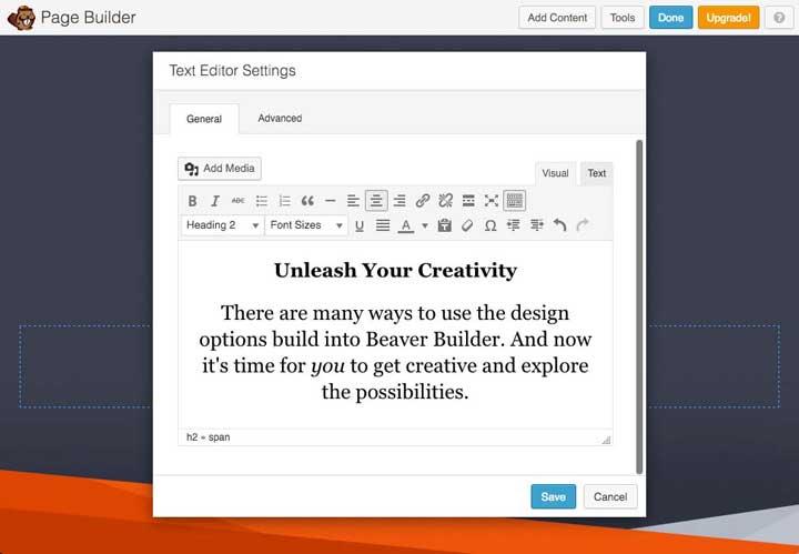 Beaver Page Builder plugin
