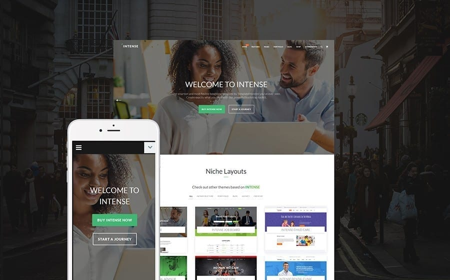 intense wordpress theme