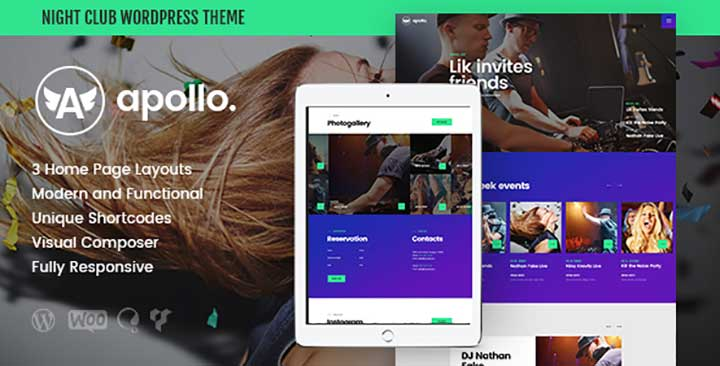 Apollo night club wordpress theme