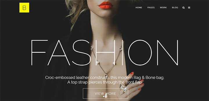 Bridge Model Agency WordPress Theme