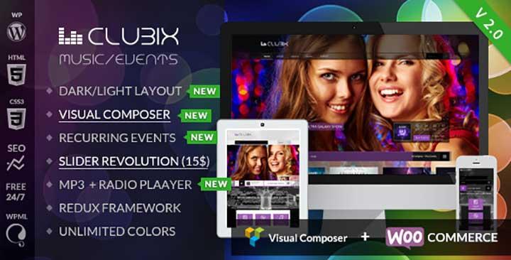 Clubix WordPress nightclub theme
