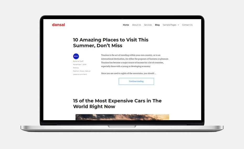Dansal WordPress Child Theme