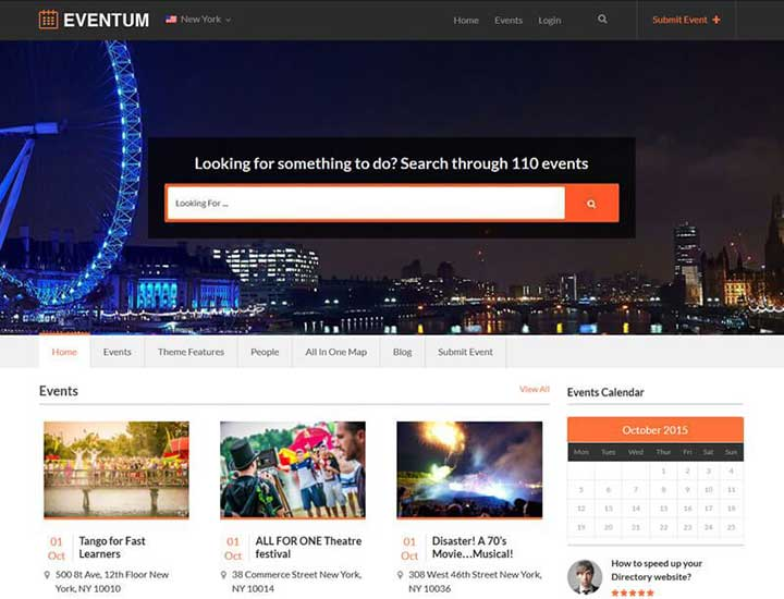 Eventum from templatic