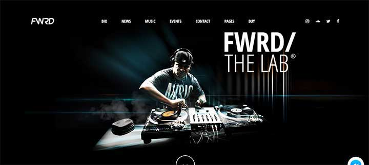 FWRD nightclub WordPress theme