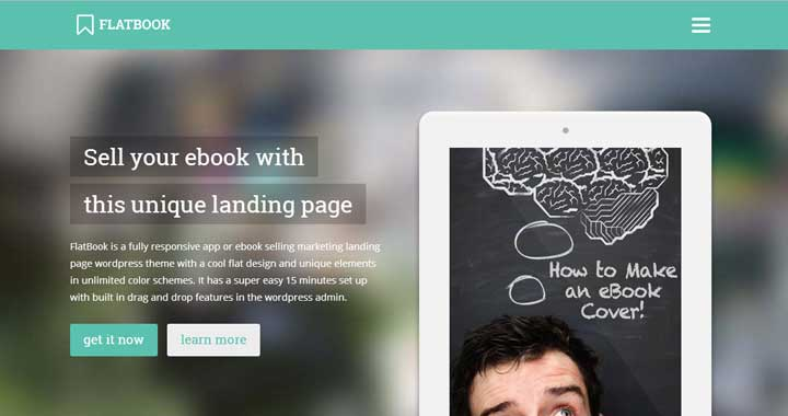 FlatBook bookstore WordPress themes