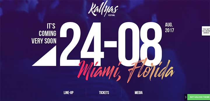 Kallyas Multi-Purpose Festival WordPress Theme