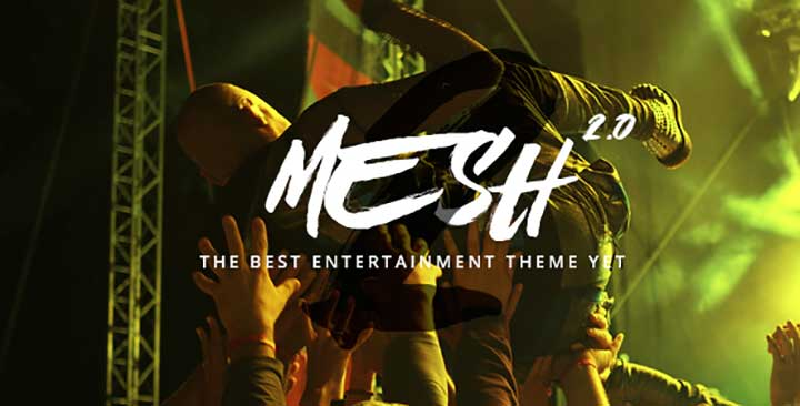 MESH WordPress music theme