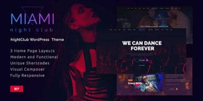 Nightclub WordPress Themes