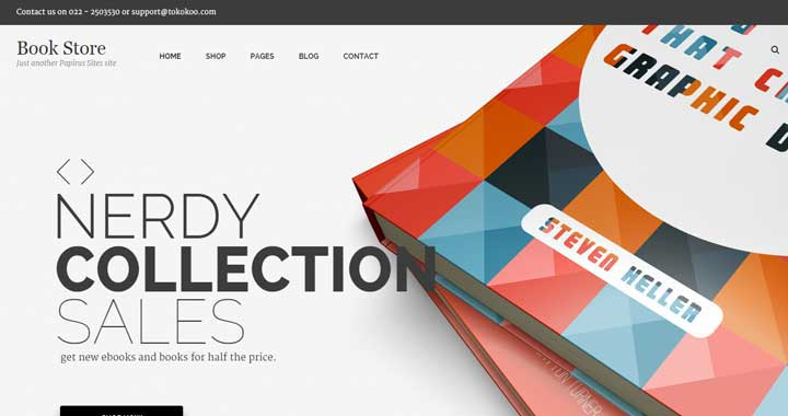 Papirus bookstore WordPress themes