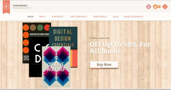 Raakbookoo bookstore WordPress themes