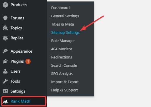 Rankmath WordPress Sitemap Plugin