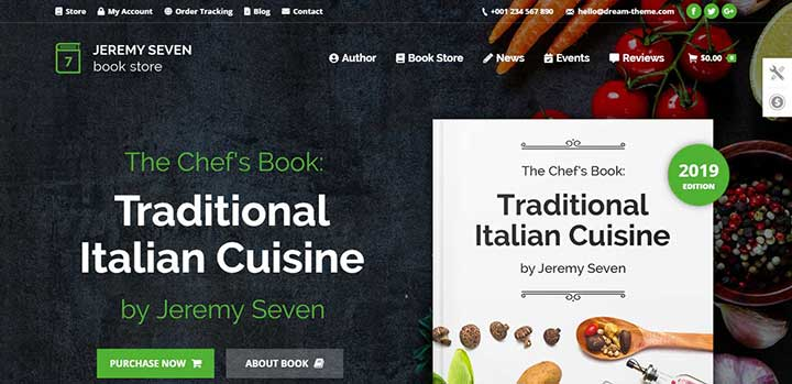 The7 online bookstore template