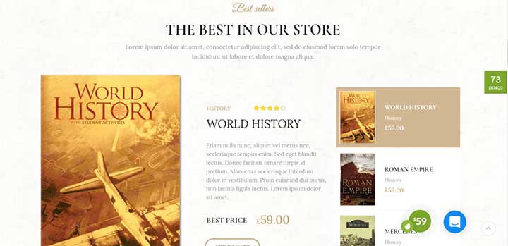 XStore book store wordpress