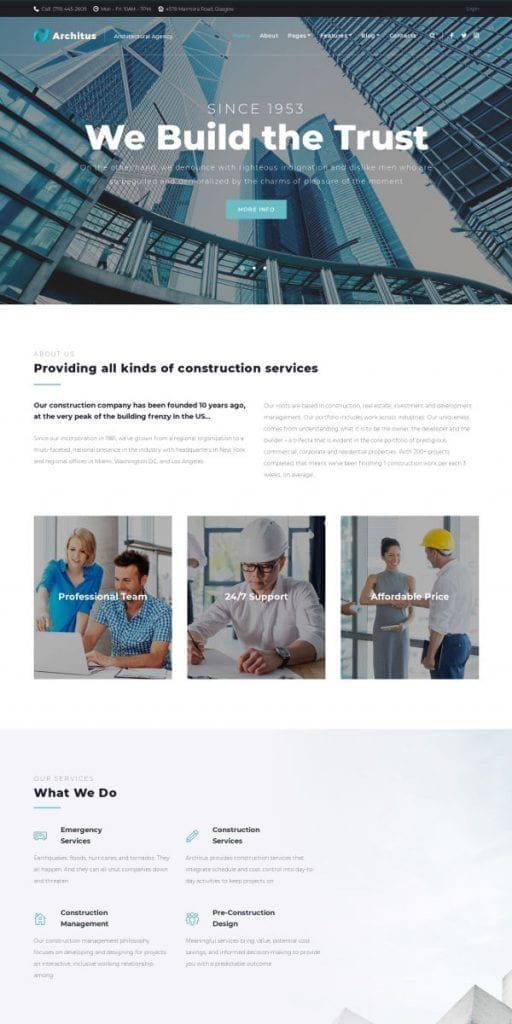 architus architect wordpress theme