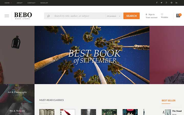 BEBO wordpress bookstore