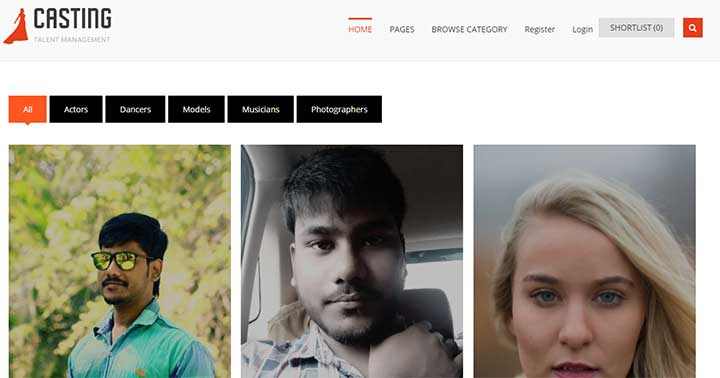 Casting WordPress Model Theme
