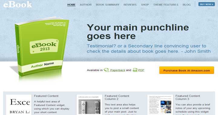 eBook bookstore website template