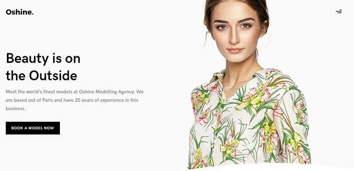 Oshine Model Agency WordPress Theme