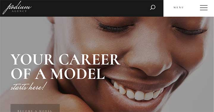 Podium WordPress Theme for Models