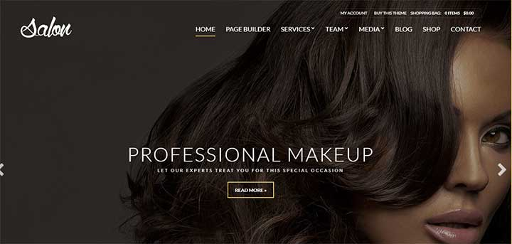 Salon Model Agency WordPress Theme