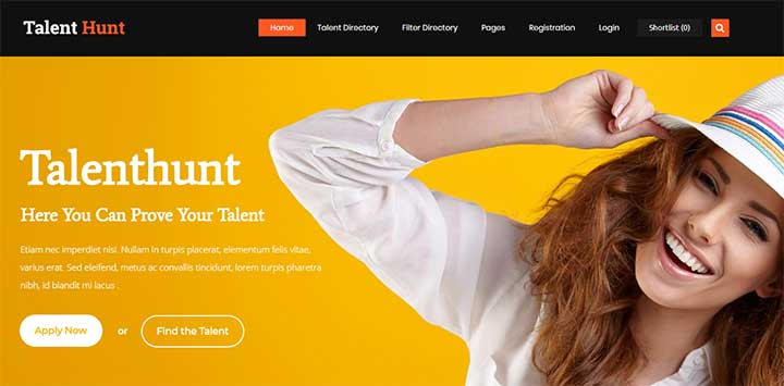 Talent Hunt WordPress Theme