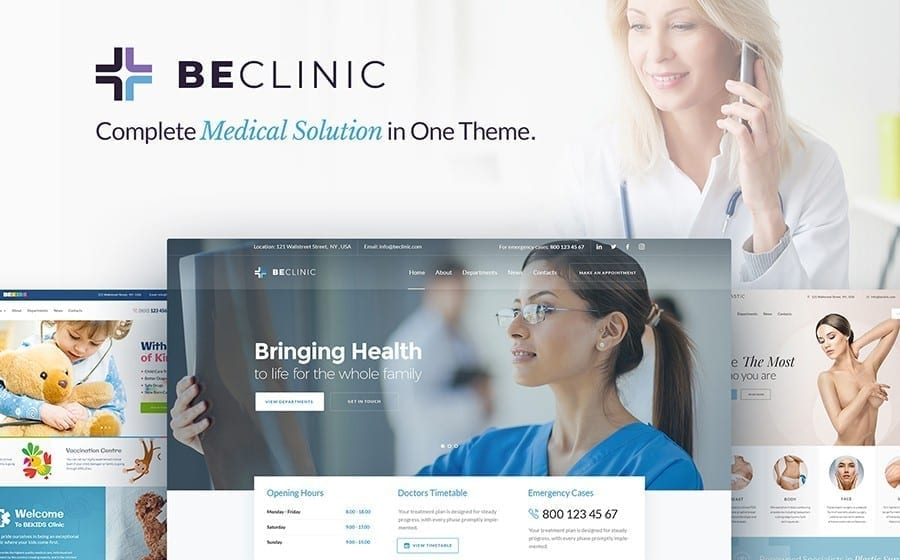 beclinic wordpress theme