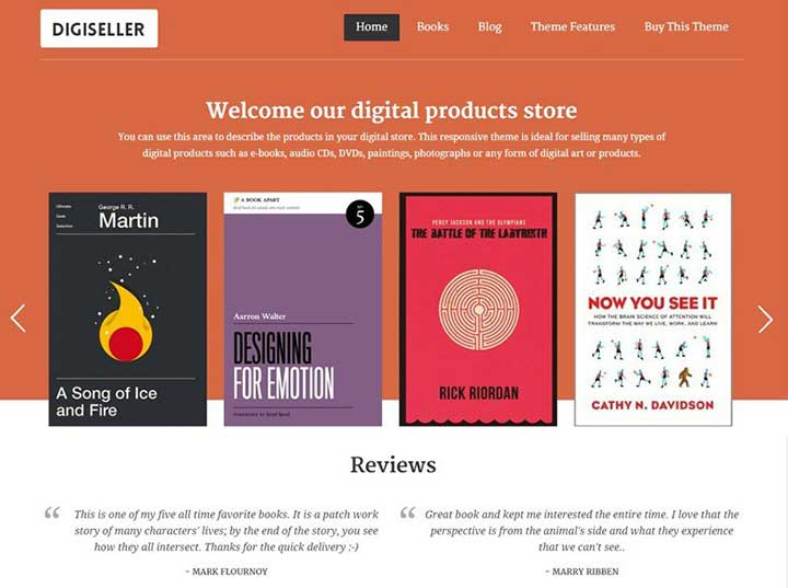 Book Author WordPress author Theme