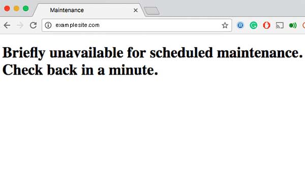 Briefly Unavailable for Scheduled Maintenance