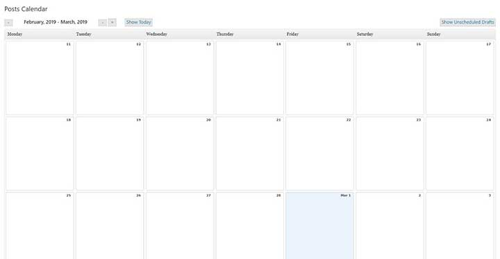 Editorial Calendar WP Plugin