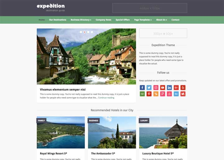 Expedition WP Directory Theme