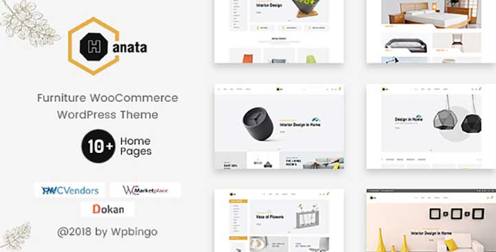 Hanata multi vendor ecommerce wordpress theme