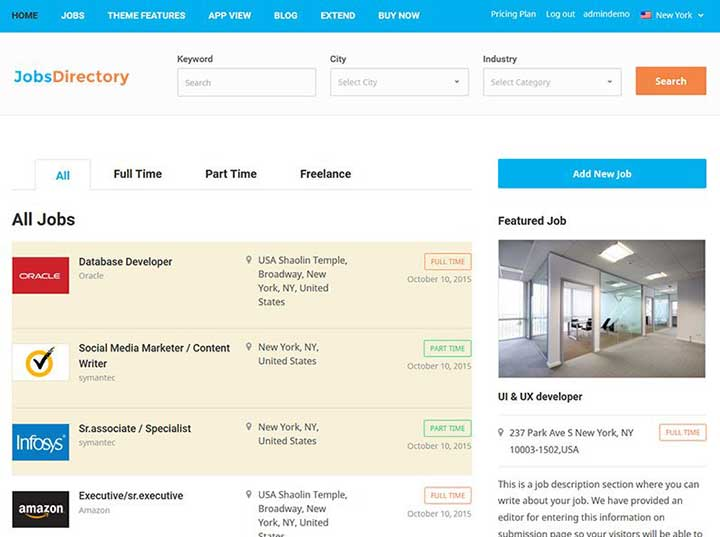 Jobs Directory WP Template