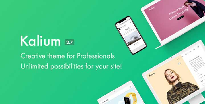 Kalium Creative Theme for Professionals with RTL Support