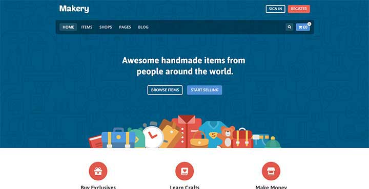 Makery multi vendor marketplace wordpress
