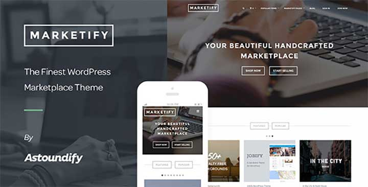 Marketify WordPress multi vendor Theme