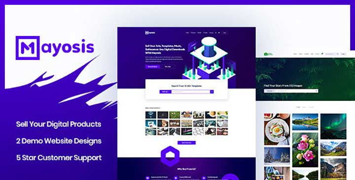 Mayosis digital marketplace theme