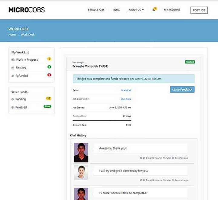 Micro Jobs Site