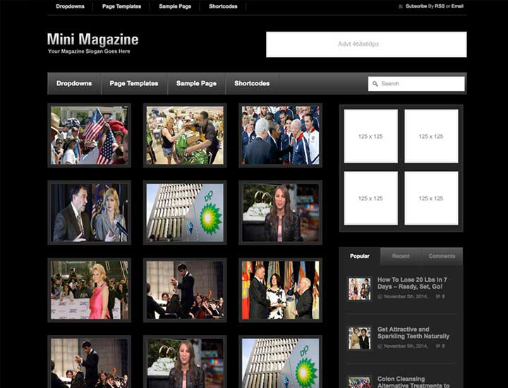 Mini Magazine Dark WordPress Theme