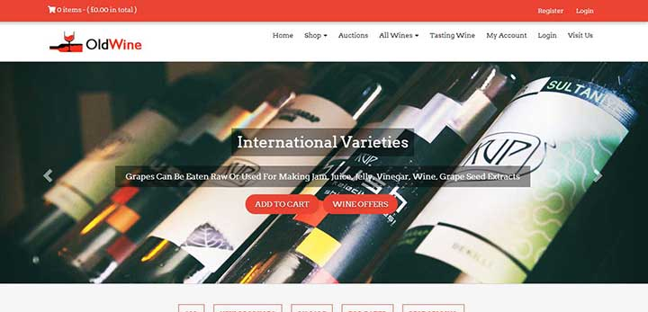 Old Wine Auction WordPress Theme