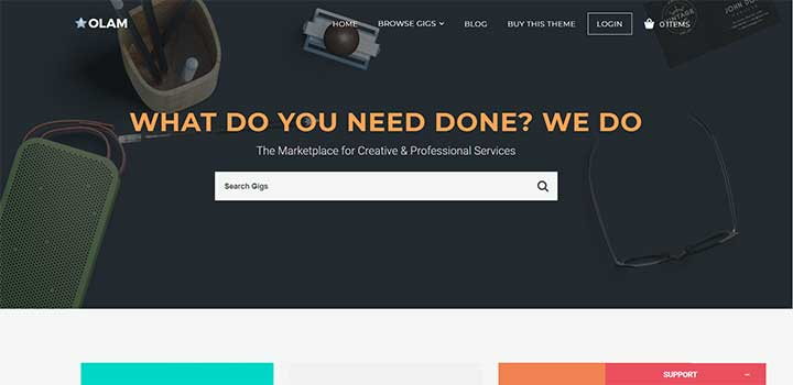 Olam marketplace template wordpress