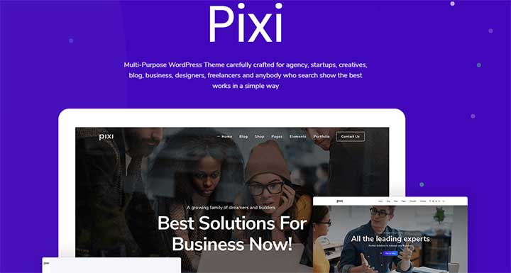 Pixi Creative Multi-Purpose RTL WordPress Theme