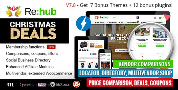 REHub WordPress directory theme