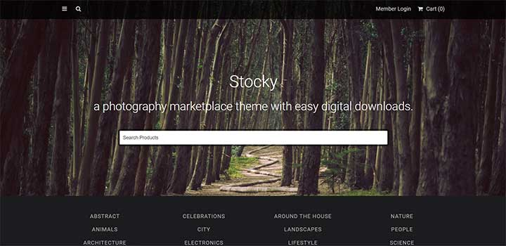 Stocky marketplace template wordpress